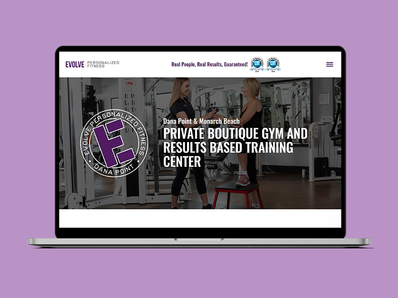 Evolve Fitness Website Case Study