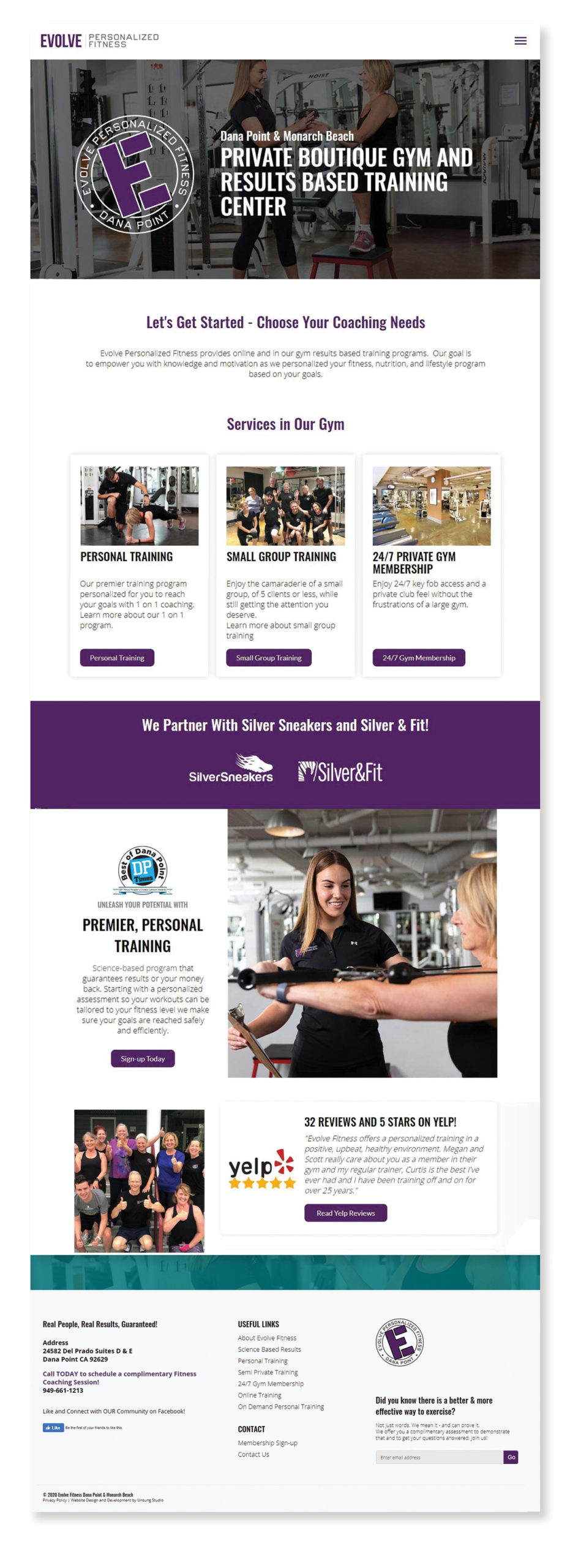 Homepage Design and Development Mock Up