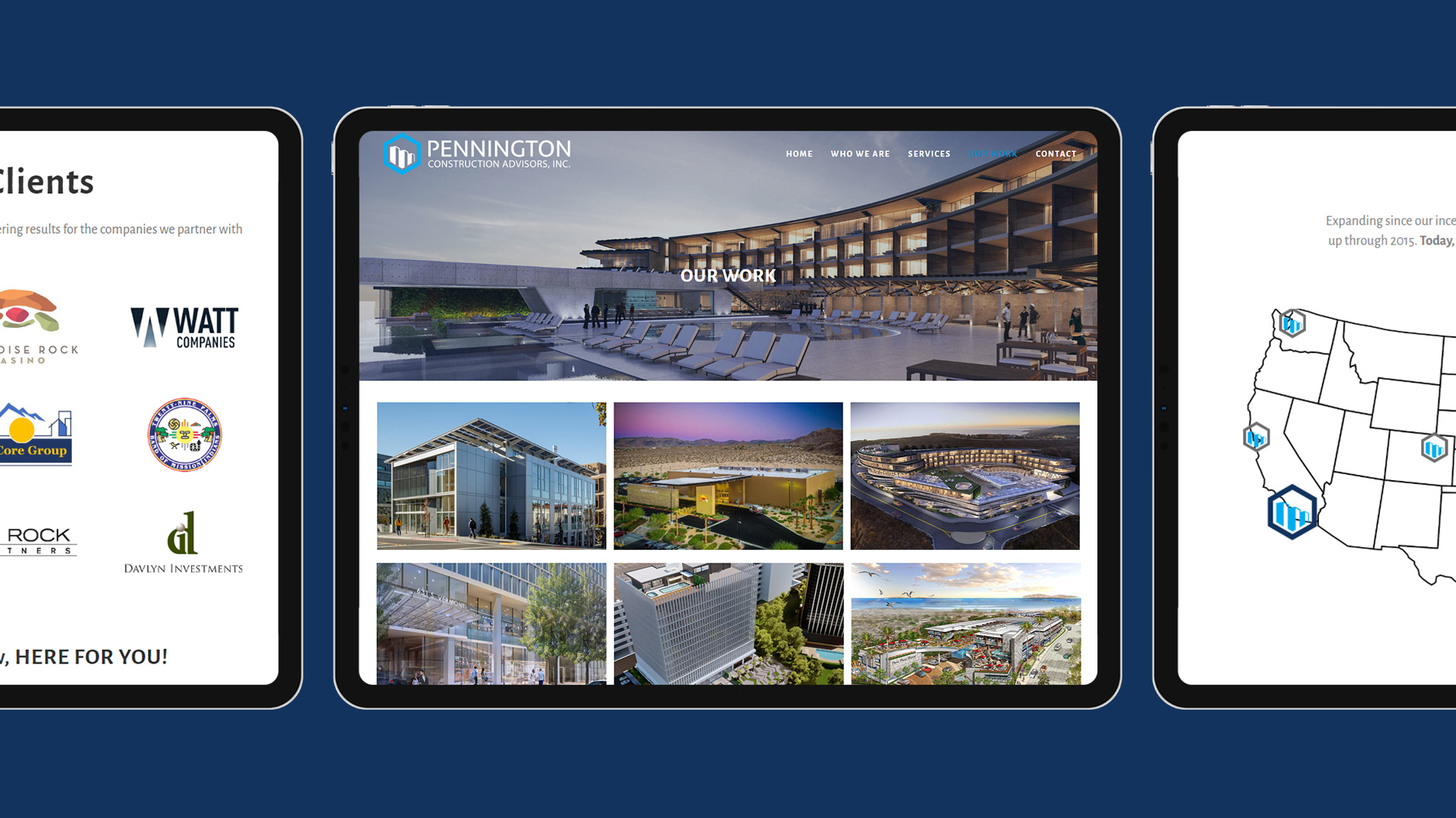 Pennco Subpage Website Design